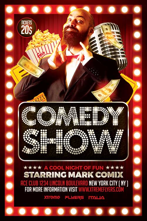 Comedy Show Flyer Template - XtremeFlyers - comedy show flyer template