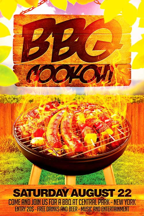 BBQ Cookout Flyer Template - XtremeFlyers hitecauto - bbq flyer