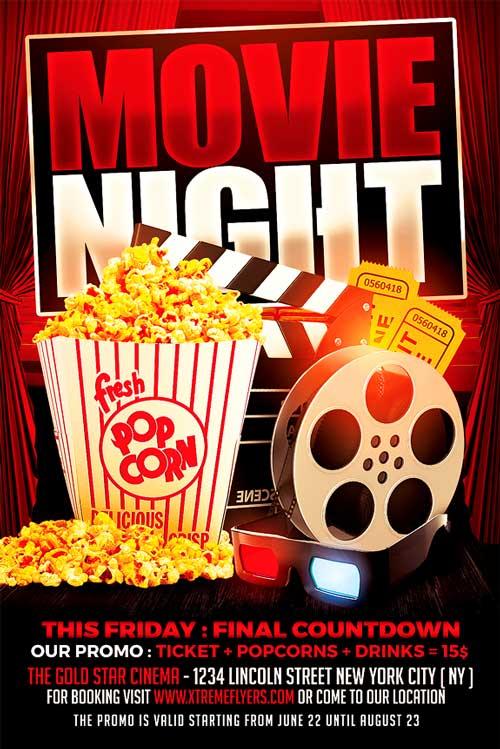 Movie Night Flyer Template - XtremeFlyers - movie night flyer template