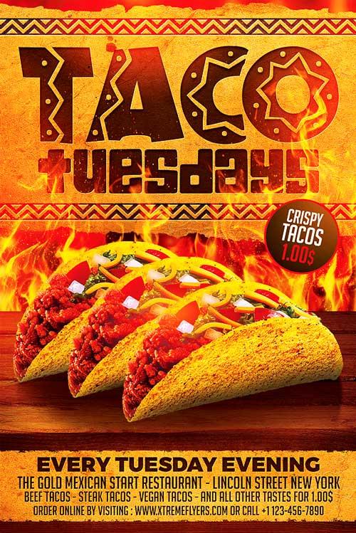 Taco Tuesdays Flyer Template - XtremeFlyers