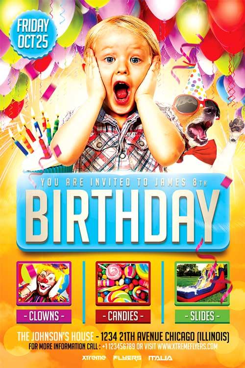 XtremeFlyers - Birthday flyer templates