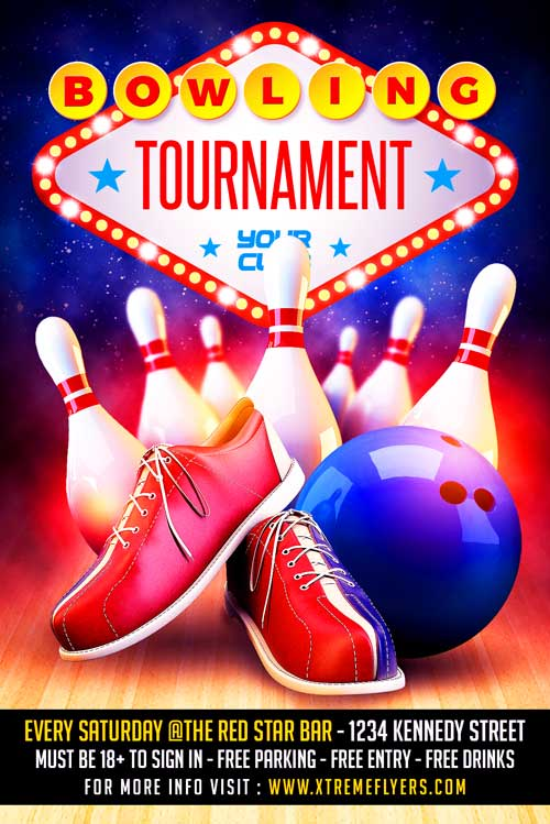 Bowling Flyer Template Download - XtremeFlyers