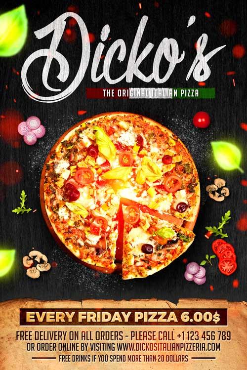Pizza Menu Flyer Template Download - XtremeFlyers