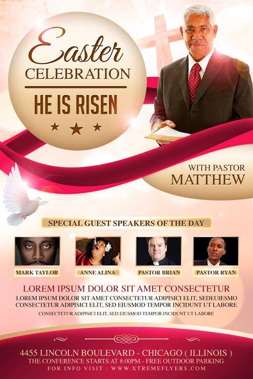 Easter Sunday Church Flyer Template - XtremeFlyers