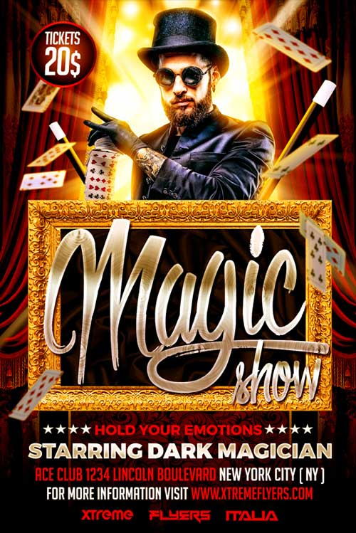 Magic Show Flyer Template - XtremeFlyers - comedy show flyer template