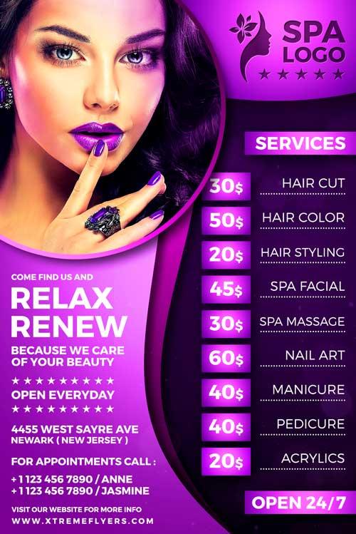 Beauty Salon Flyer Template - XtremeFlyers