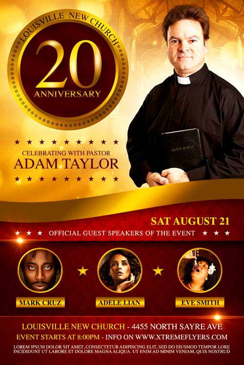 Church Anniversary Flyer Template - XtremeFlyers