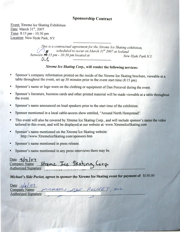 skateboard sponsorship contract template - 100 images - the - sponsorship contract template
