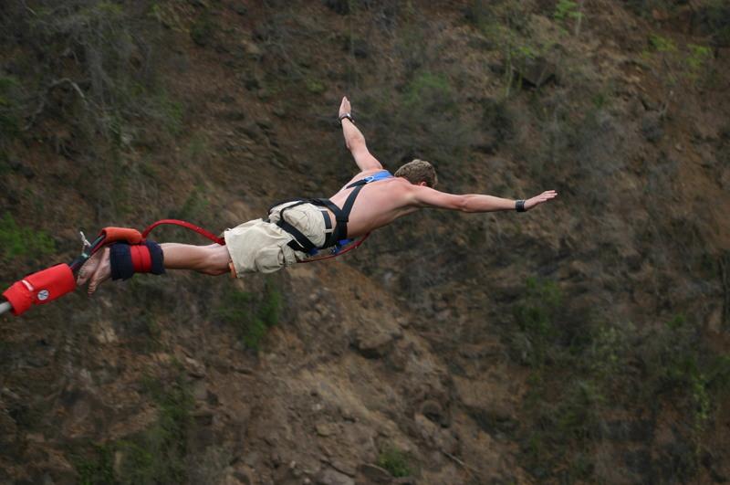Free Fall Photos Wallpaper Bungee Jumping Aradaina Bridge Anopoli Crete Greece