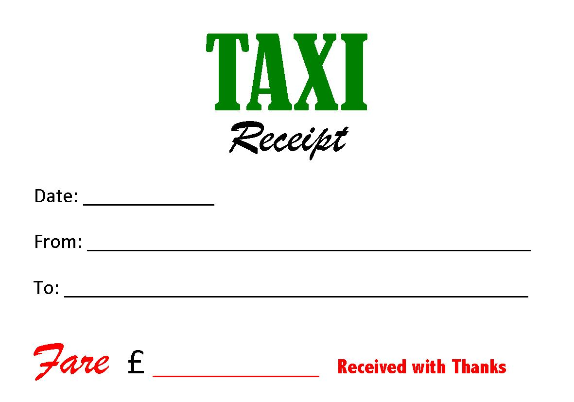 Receipt Template Taxi | Sample Resumes & Sample Cover Letters