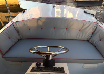Yacht Upholstery Blue/Grey Captain Seating