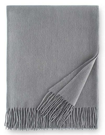 Sferra Dorsey Cashmere Throw Blanket Silver
