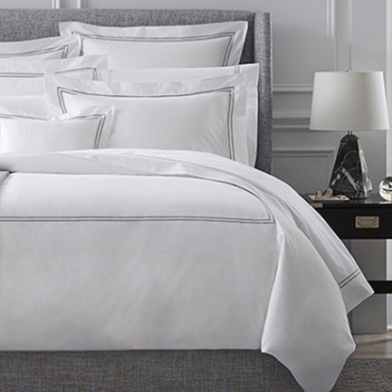 Sferra Grand Hotel Duvet Grey White