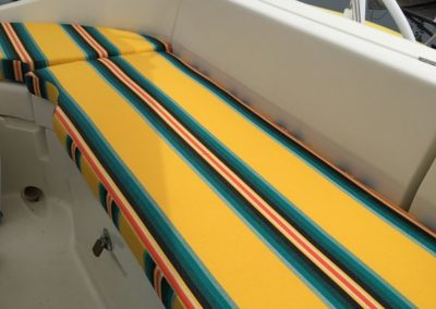 Yacht Upholstery Yellow Blue Stripes