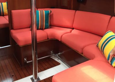Yacht Upholstery Salmon Bench