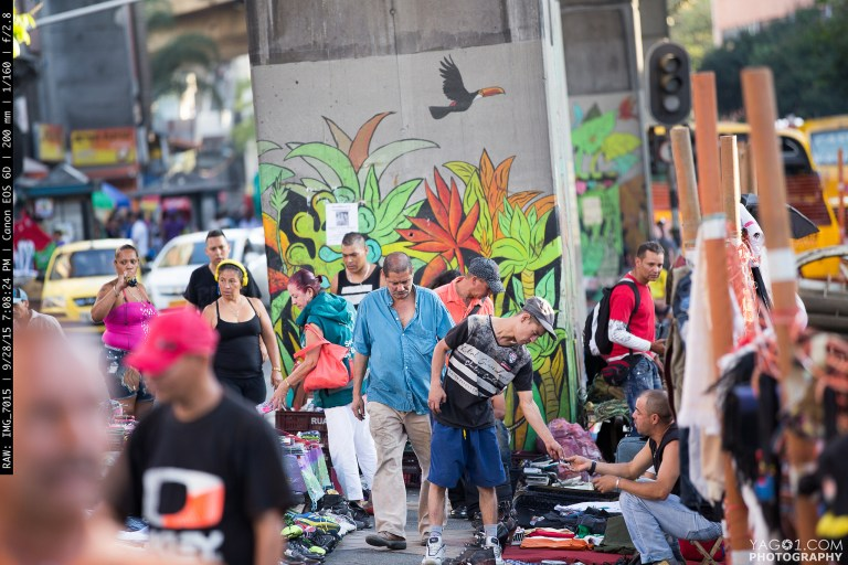 Colorfull Medellin Street Secondhand Vendors Colombia