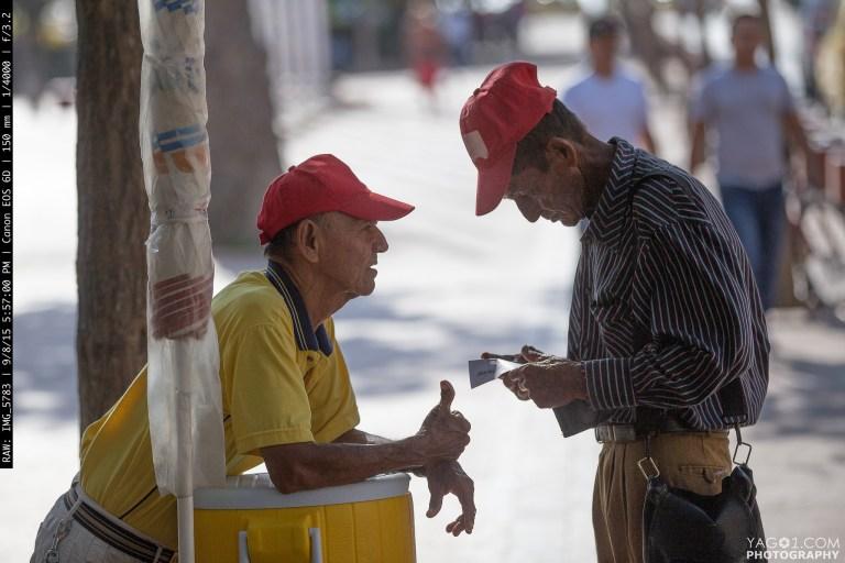 Old Men at the Plaza de Bolívar Santa Marta Colombia