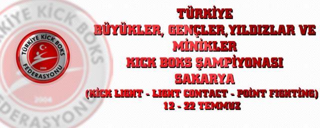 kickboks şampiyonası Sakarya