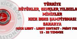 Büyükler, Gençler, Yıldızlar ve Minikler Türkiye Kick Boks Şampiyonası