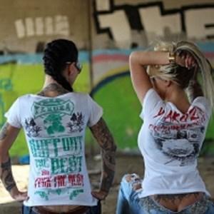 yakuza damen shirt in weiß