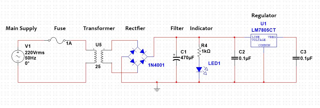 Design 5V DC Power Supply Easy Step By Step Guide