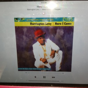 iTunes radio kept me company. Great reggae selection.