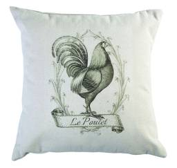 Le Poulet pillow, available at Two Blooms Design Studio's Etsy shop. $35