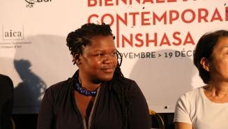 Curator of Yango biennale Sithabile Mlotshwa