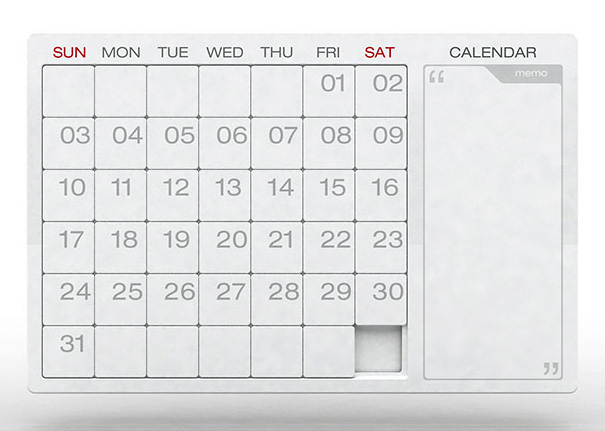 Making Yearly Calendars Obsolete Yanko Design