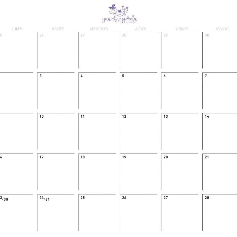 calendario Archivos - YANOESTOYGORDA by netastyle