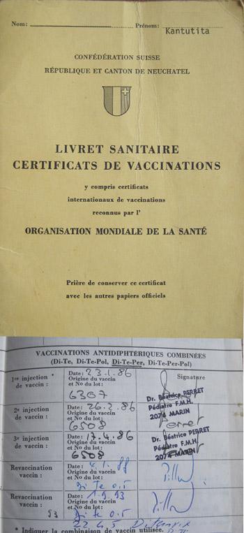 Carnet de vaccination suisse