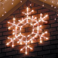 Lighted Snowflakes & Stars - Yard Envy