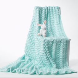 Small Of Knit Baby Blanket