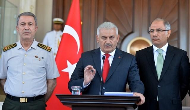Başbakan Binali Yıldırım Çankaya Köşkünde açıklamalarda bulundu.