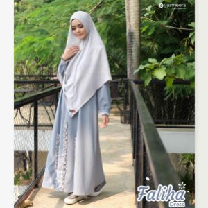 gamis yasmeera faliha dress blue