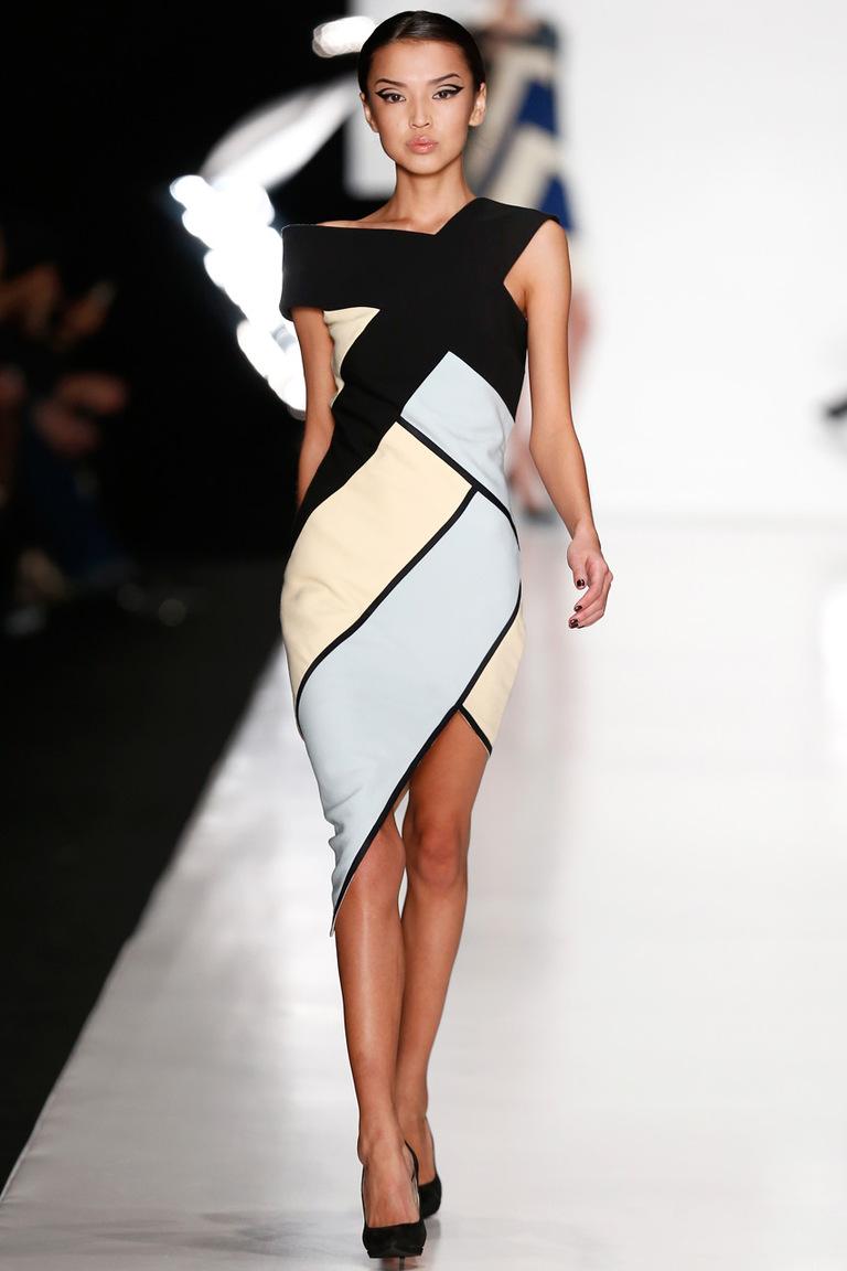 Платье из геометрических фигур