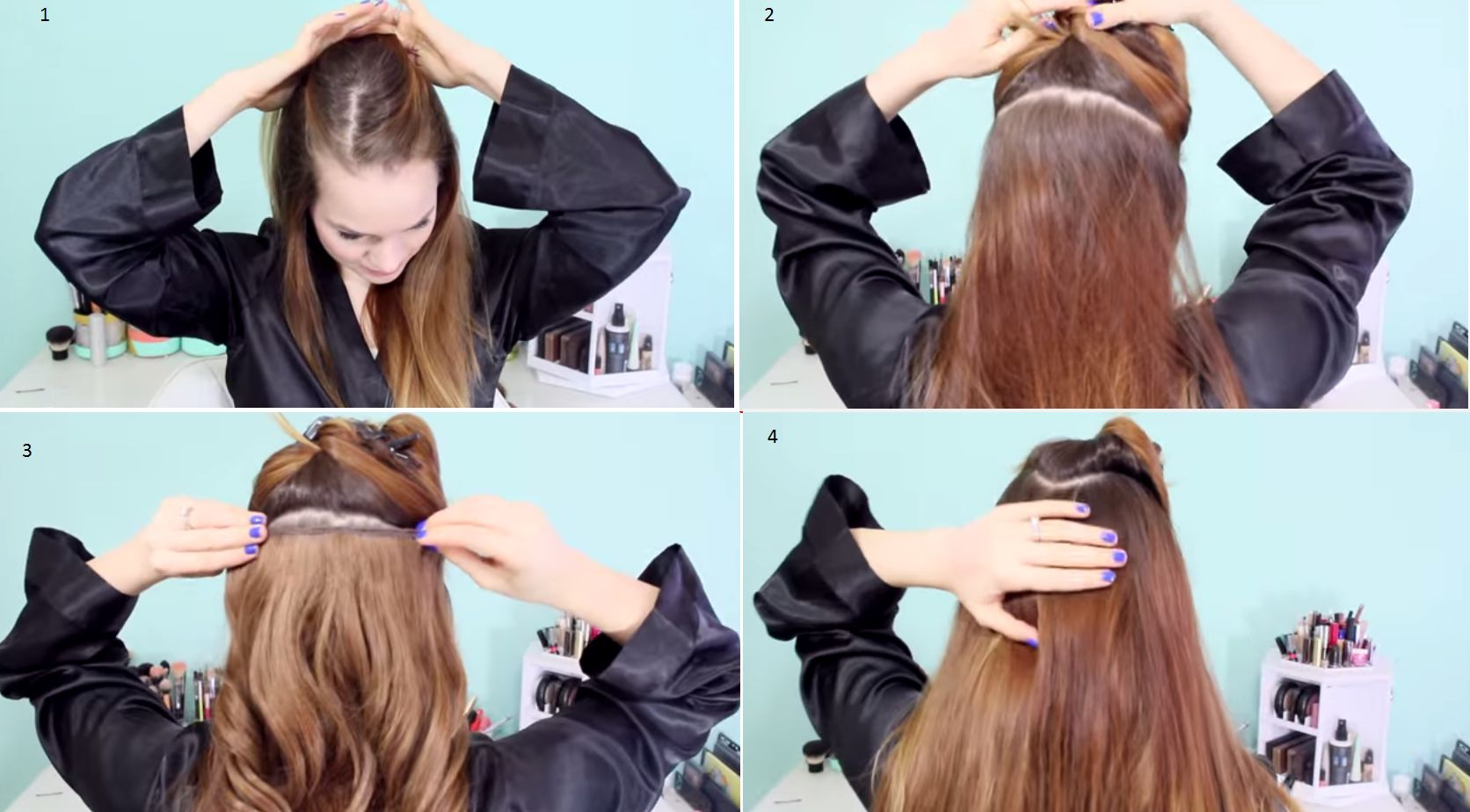 Прически из накладных волос своими руками