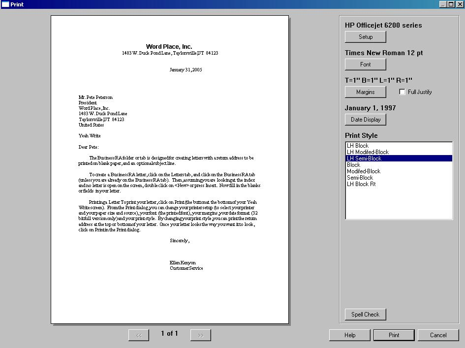 Yeah Write Word Processor - Complete with Address Book, Journal