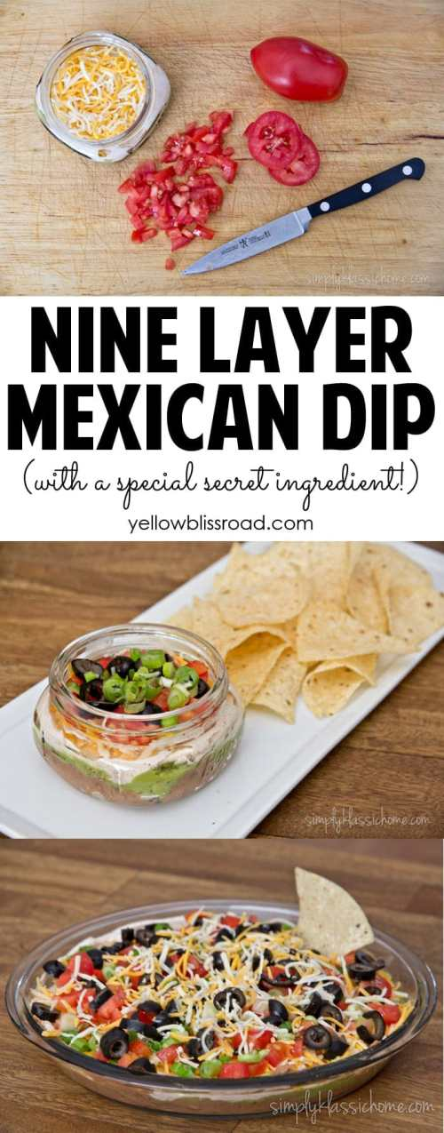 Medium Of Layered Mexican Dip