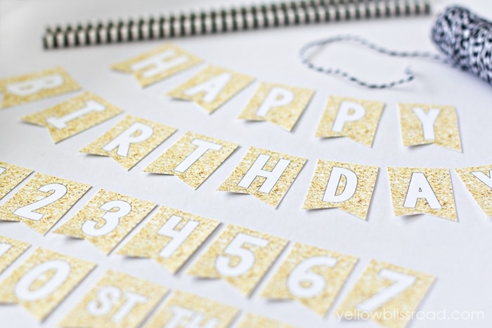 Free Printable Mini Birthday Bunting - Yellow Bliss Road