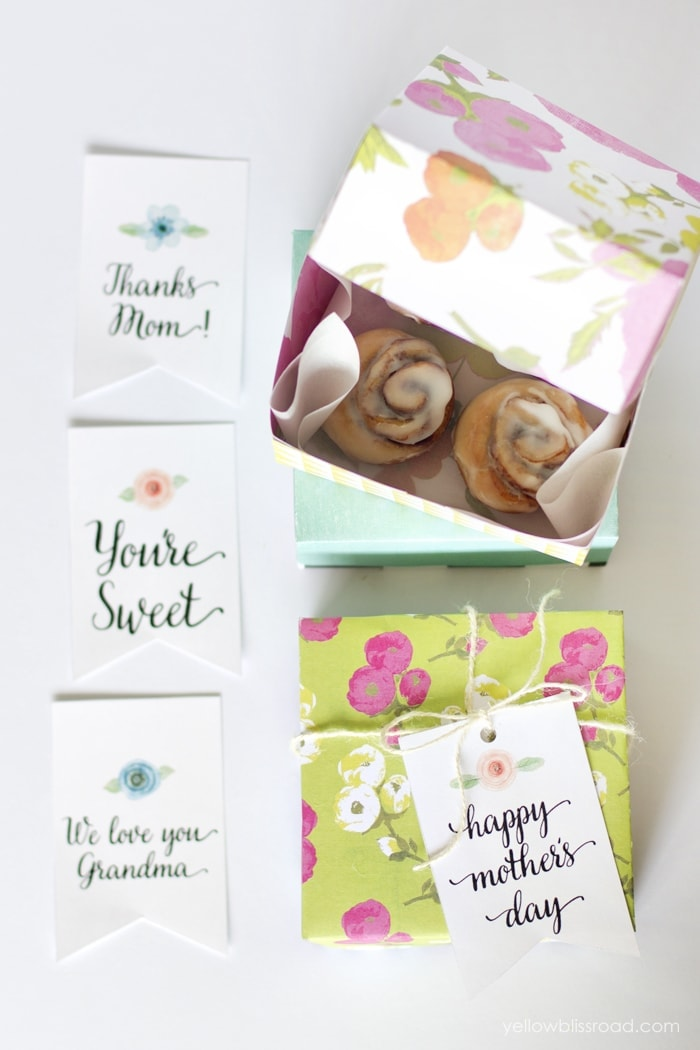DIY Paper Treat Boxes and Free Printable Tags - Yellow Bliss Road