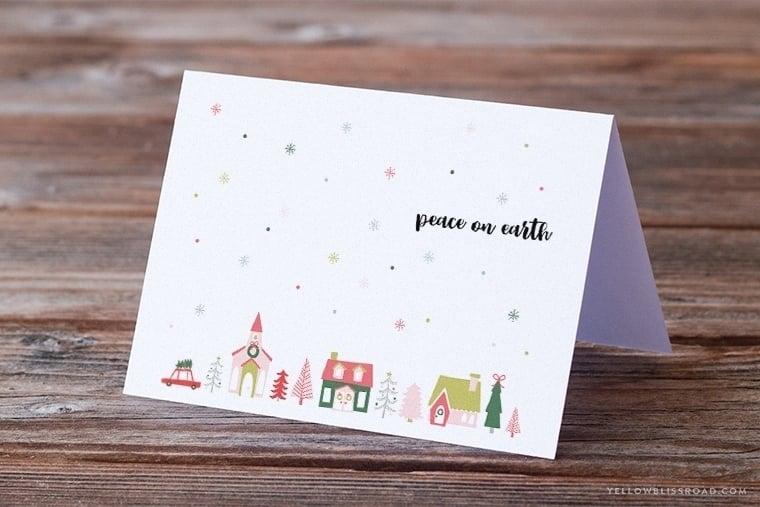 Free Printable Christmas Card  Sign - Yellow Bliss Road - christmas card printable