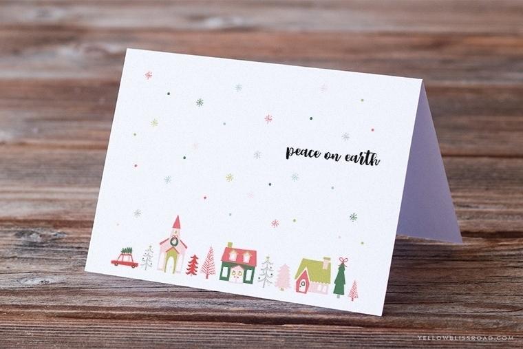 Free Printable Christmas Card  Sign - Yellow Bliss Road