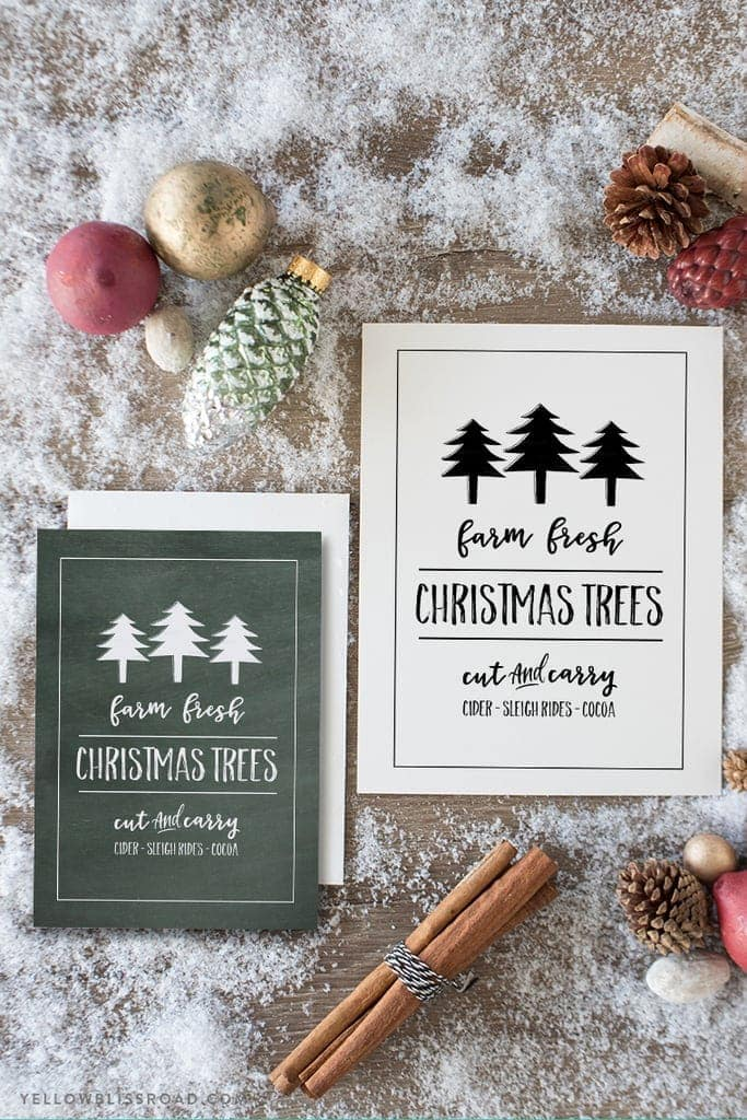 Farm Fresh Christmas Trees Free Printable FREE printable Christmas art