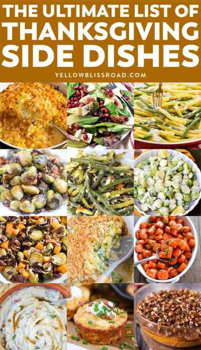 Thanksgiving Side Dishes | The Ultimate List of Over 100 recipes!
