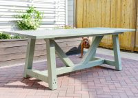 Painting Our DIY Patio Table, Part II - Yellow Brick Home