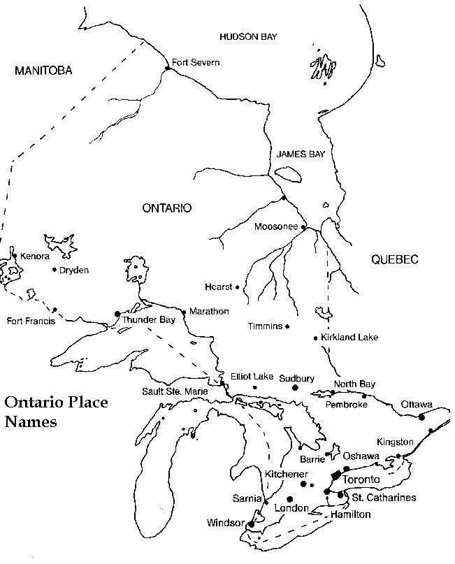 Ontario Printable Map