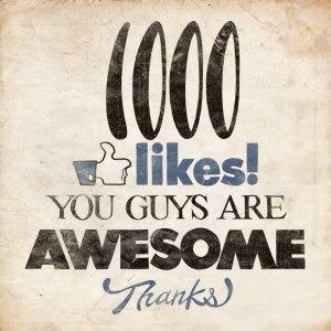1000 likes