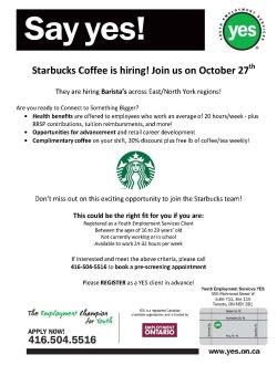 Sterling Yes Flyer Starbucks Event Starbucks Dress Code Lookbook Starbucks Dress Code Hair Length