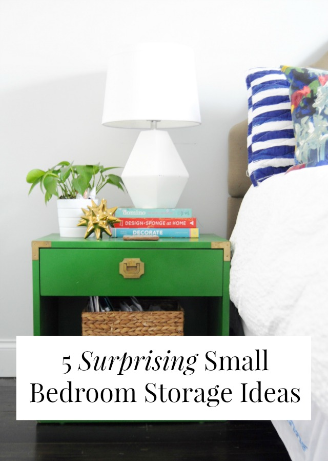5 Surprising Small Bedroom Storage Ideas - - small bedroom organization ideas